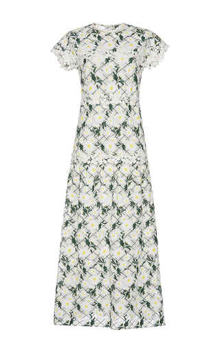 Medium giambattista valli floral short sleeve daisy dress 2