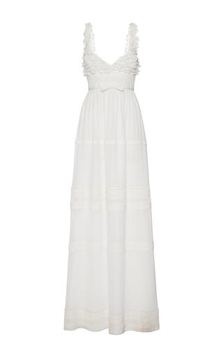 Medium giambattista valli white v neck empire waist dress 2