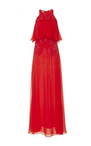 Medium giambattista valli red short sleeve popover dress 2