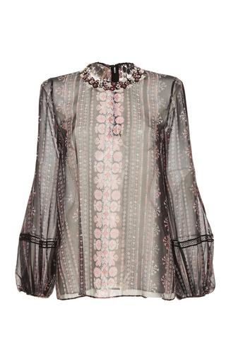 Medium giambattista valli black balloon sleeved blouse