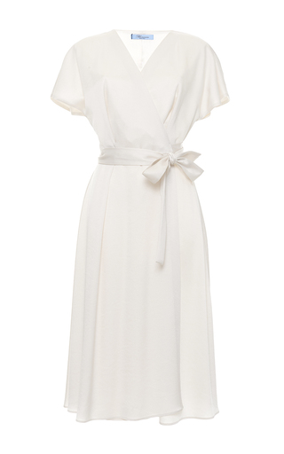 Medium blumarine pink short sleeve wrap dress 2