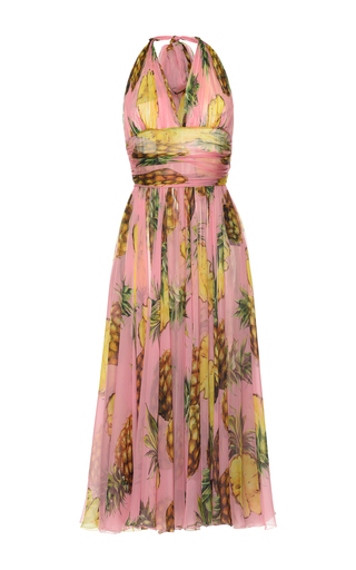 Medium dolce gabbana pink pineapple print gown