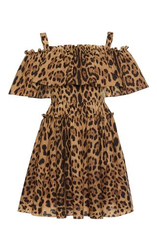 Medium dolce gabbana print off the shoulder leopard print dress