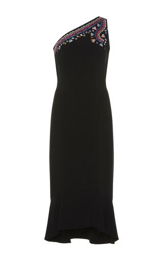 Medium peter pilotto black embroidered one shoulder dress