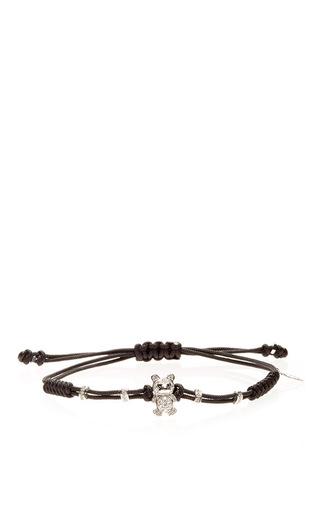 Medium pippo perez gold white diamond teddy bear bracelet