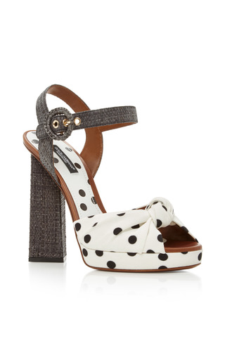Medium dolce gabbana multi polka dot sandals