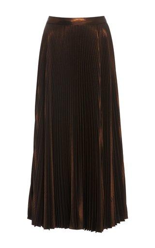 Medium a l c gold bobby pleated midi skirt