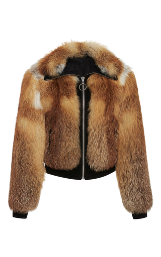 Medium a l c brown boyce cropped fox fur jacket