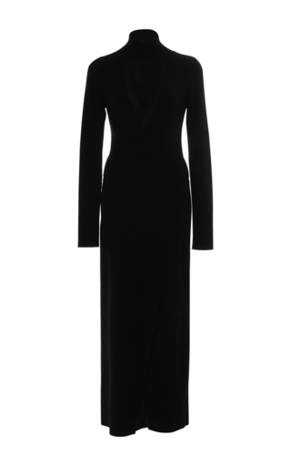 Medium a l c black rojo open front dress
