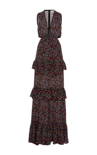 Medium a l c floral brie cutout maxi dress