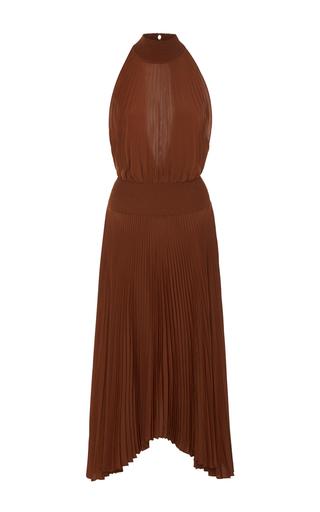 Medium a l c brown renzo pleated halter dress