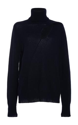 Medium a l c navy billy cutout turtleneck sweater