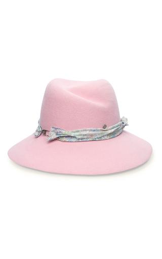 Medium maison michel pink rosa flower seduction hat