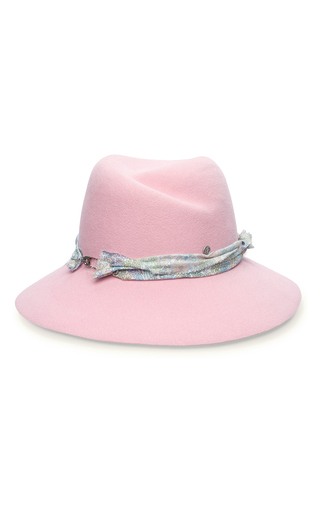 Medium maison michel pink rosa flower seduction hat
