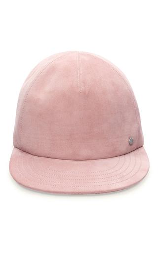 Medium maison michel pink nick bow leather romance baseball cap 2
