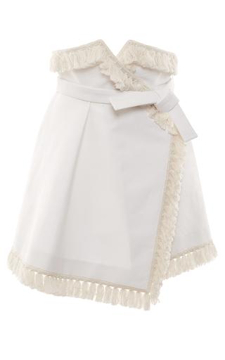 Medium francesco scognamiglio white fringe wrap skirt