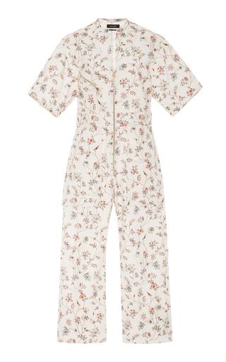 Medium isabel marant off white floral print voile jumpsuit