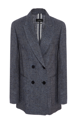 Medium isabel marant light blue kelis silk and linen blend blazer