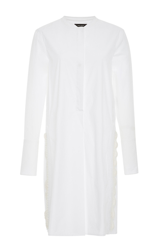 Medium isabel marant white minea crochet trimmed cotton tunic