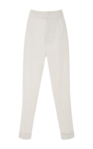 Medium isabel marant white linen blend tapered pants