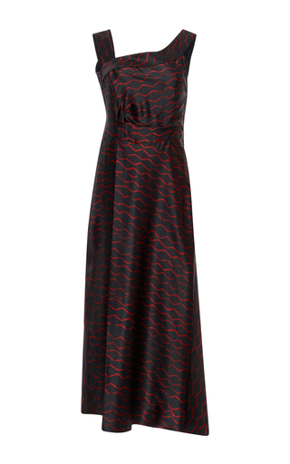 Medium isabel marant black shari printed silk dress