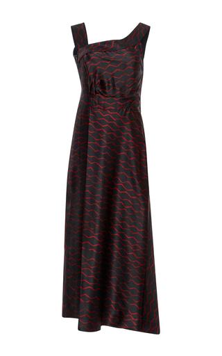 Medium isabel marant black shari printed silk dress