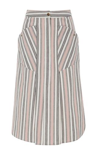 Medium isabel marant off white sphery striped cotton skirt