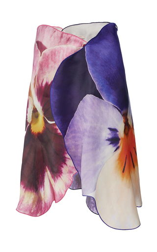 Medium christopher kane floral placed pansy midi skirt