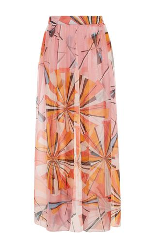 Medium emilio pucci print high rise a line skirt
