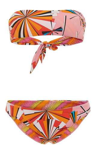 Medium emilio pucci print bandeau bikini