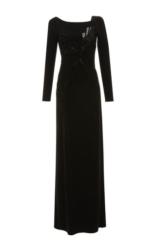Medium emilio pucci black long sleeve embroidered dress