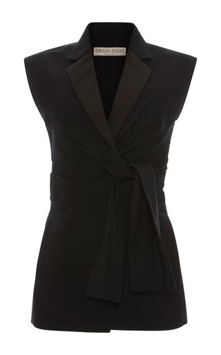 Medium emilio pucci black tailored tie vest