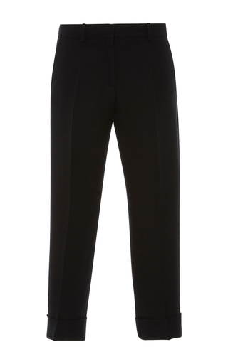 Medium emilio pucci black pleated crop trousers