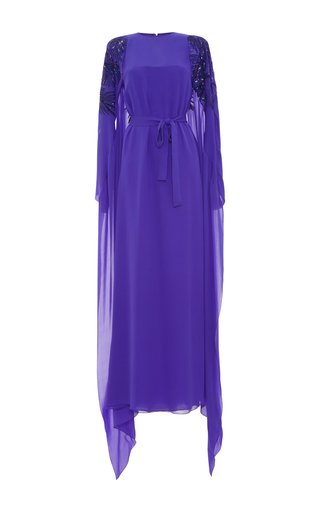 Medium emilio pucci blue embroidered caftan