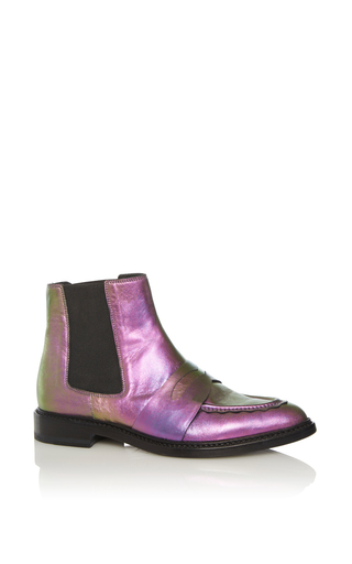 Medium christopher kane purple iridescent chelsea boot