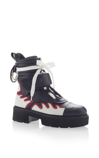 Medium msgm black flame combat boots