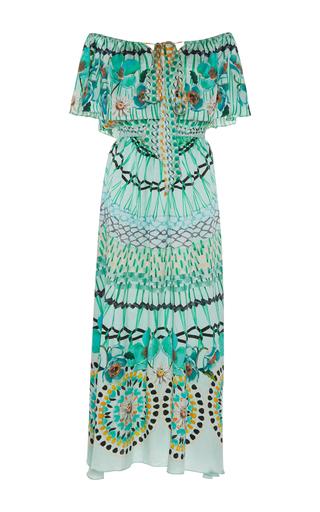 Medium temperley london print dream catcher off the shoulder dress