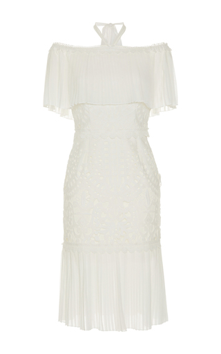 Medium temperley london white berry lace off the shoulder dress