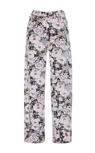 Medium rebecca taylor floral lavinia rose high rise straight jeans