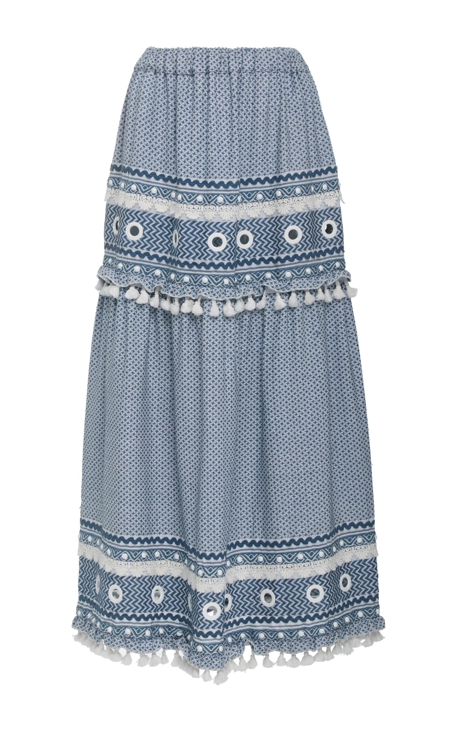 Dodo Bar Or Skirt.Ataliya Embroidered Maxi Skirt