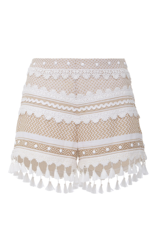 Medium dodo bar or khaki moav tassel shorts