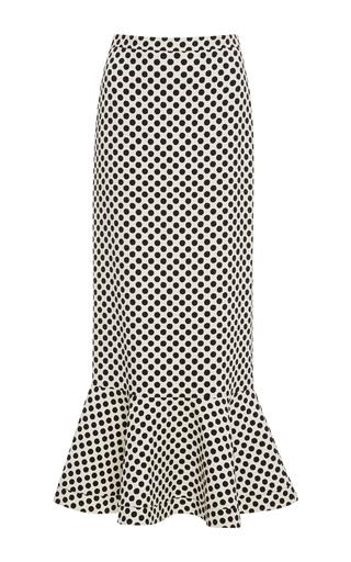 Medium saloni black white portia high waisted midi skirt