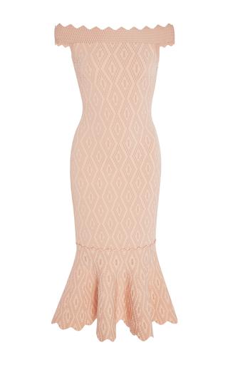 Medium jonathan simkhai light pink diamond jacquard off the shoulder dress
