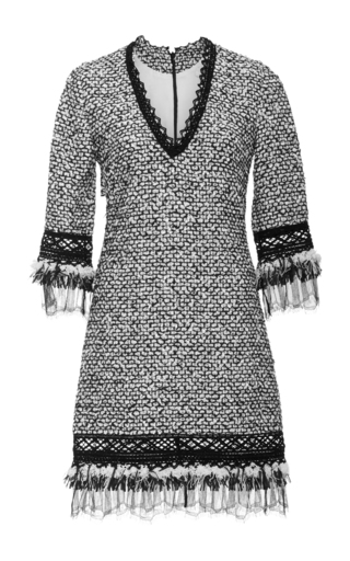 Medium jonathan simkhai light grey tweed shift dress