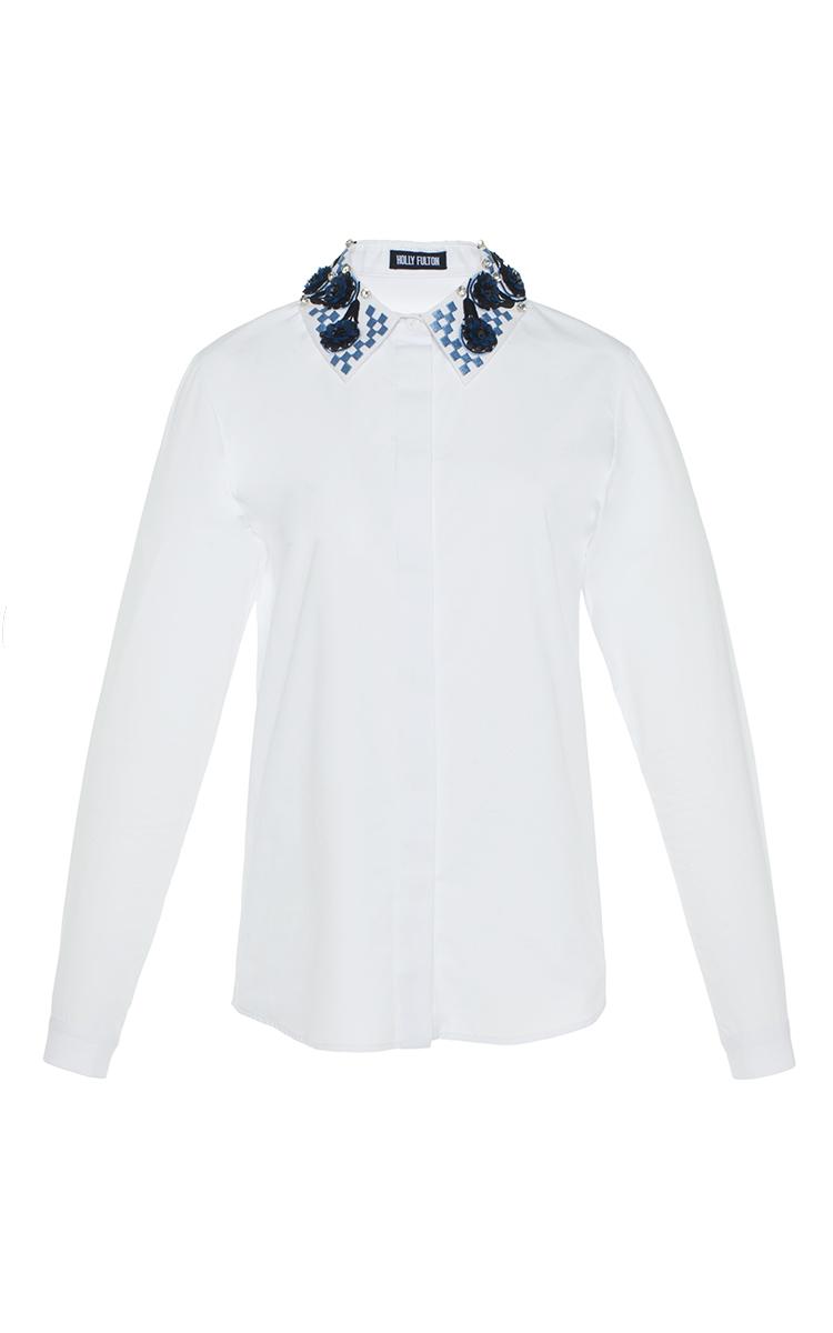 Embroidered Collar Shirt By Holly Fulton Moda Operandi