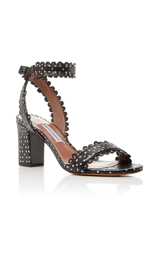 Medium tabitha simmons black leticia perforated sandal