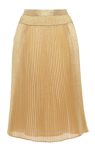 Medium manoush gold metallic pleated skirt