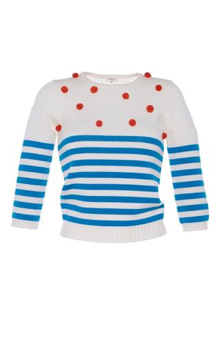 Medium manoush stripe pom pom pullover