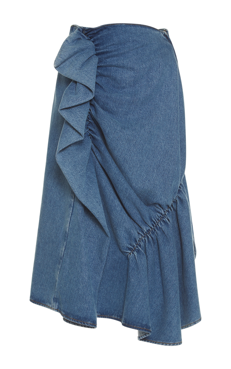 professional where can i buy best selection of 2019 High Waist Ruffle Denim Skirt
