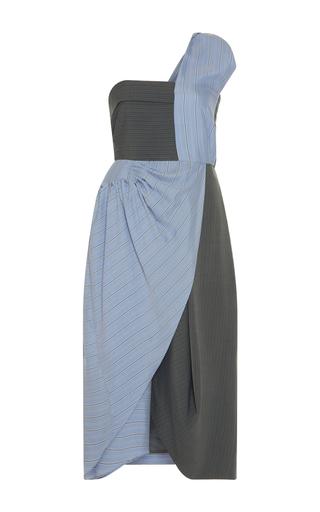 Medium j w anderson blue one shoulder beach bodice dress